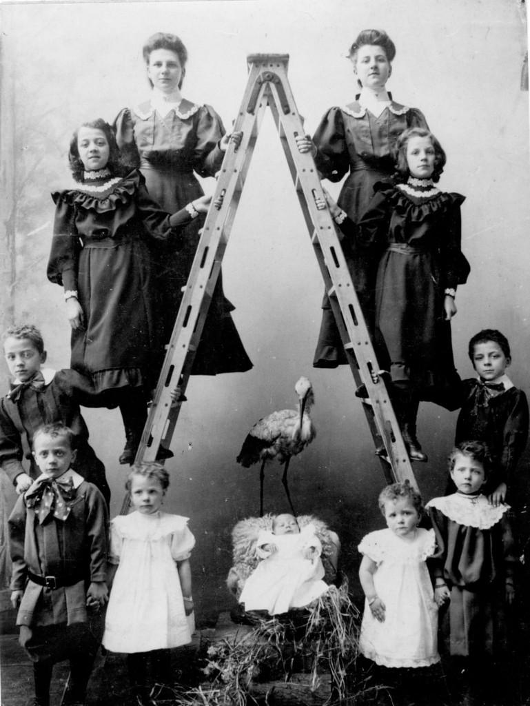 kinderen van Philomien, het gezin Verhees in 1905