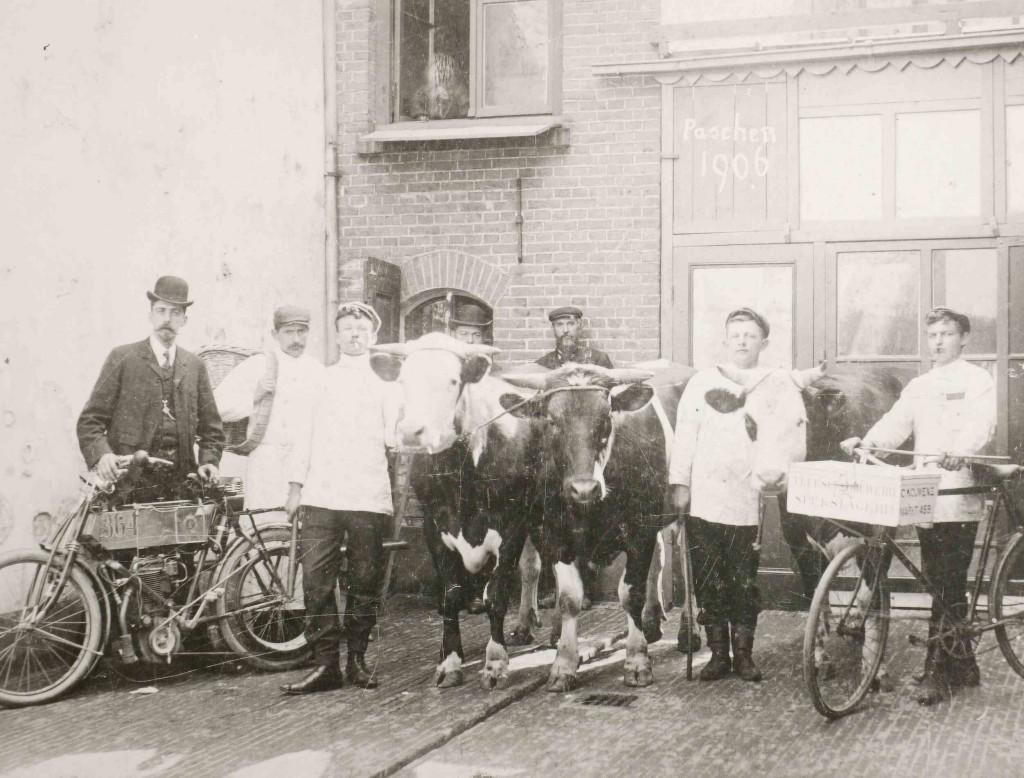Een slagersmotor in 1906