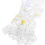 Nous per gemeente NL2007-BE2008