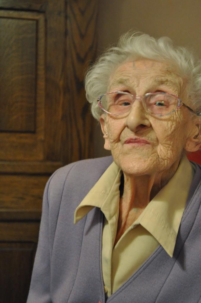 Agnes Corvers-Wellens 27 november 2010, net na haar 101ste verjaardag.