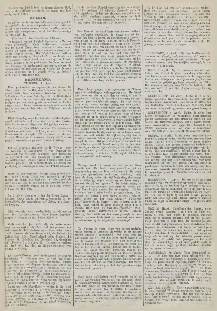 Weekblad van Tilburg 7 april 1866 -p4