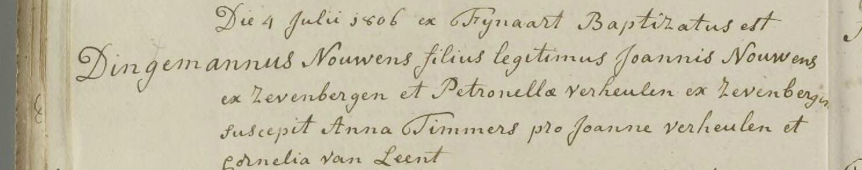 doop Dingemannus Nouwens, 04-07-1806
