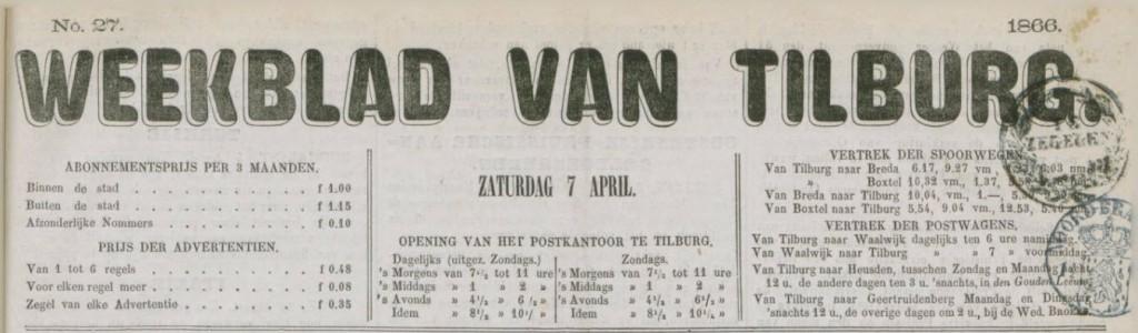 weekblad van Tilburg - kop