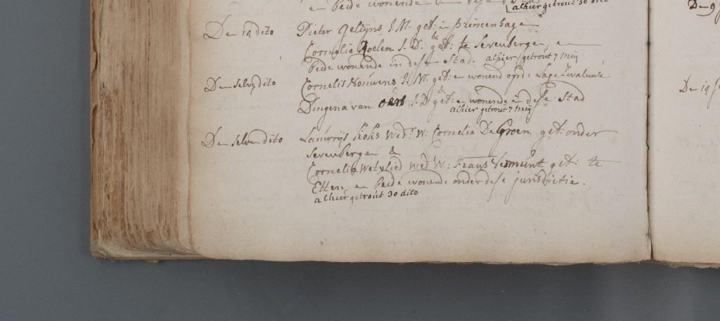 Huwelijk Cornelis Nouwens en Digna van Oers (NH) 07-05-1758