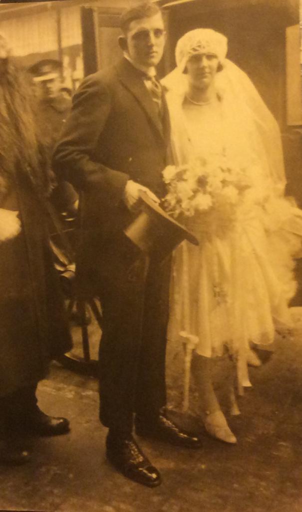 Huwelijk Piet en Adèle 13 februari 1928