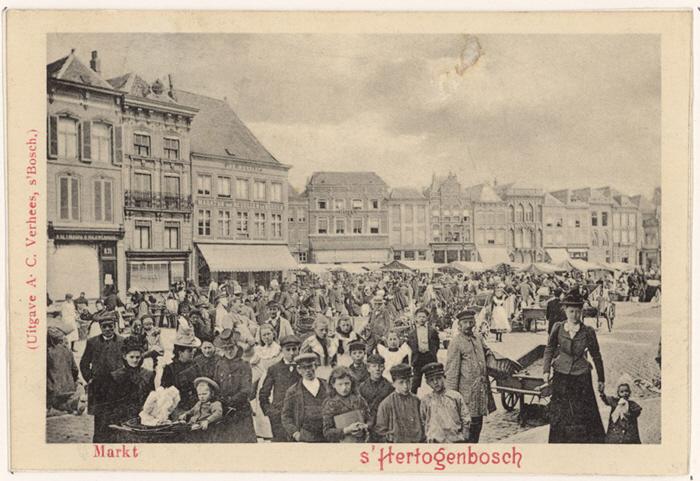 Markt in 1910, foto A.C. Verhees