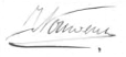 Handtekening Johannes Petrus Nouwens