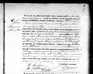 geboorte Johannes Petrus Nouwens - Klundert 2 jan 1875
