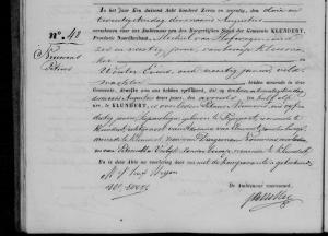 overlijden Petrus Nouwens - Klundert 22 aug 1877