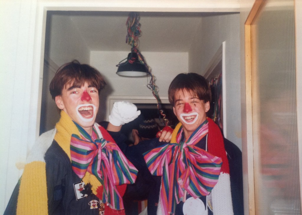 Marc en Hans Carnaval 1985