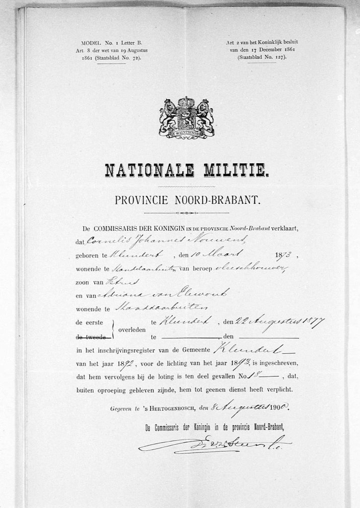 Nationale Militie Cornelis Johannes Nouwens