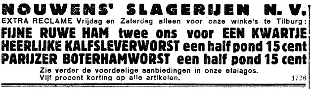 Nouwens' Slagerijen NV 7 feb 1935