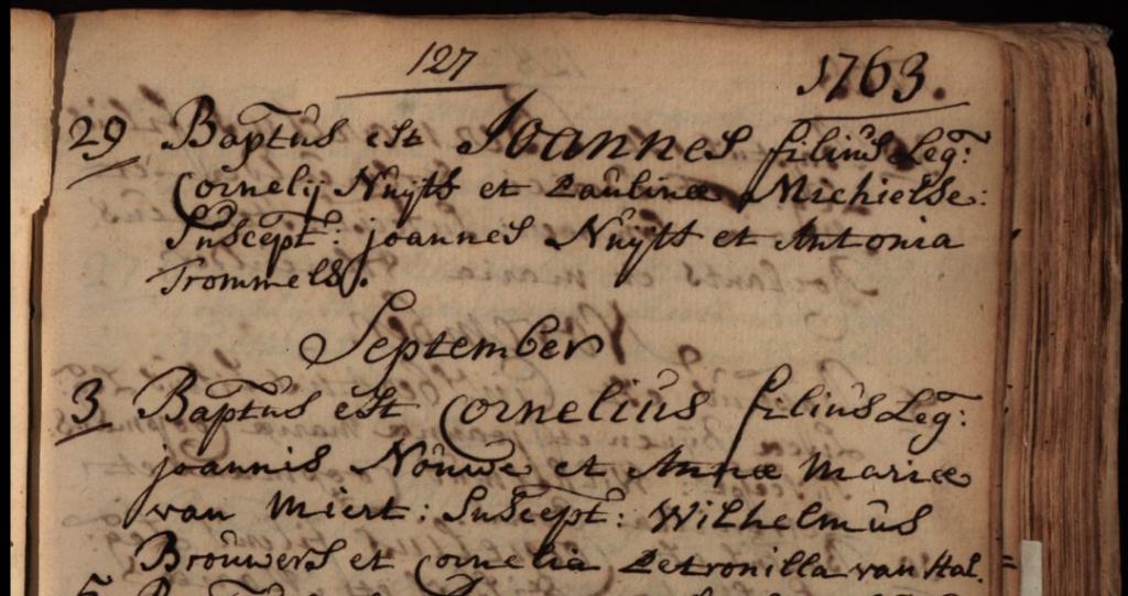 doop Cornelius Johannes Nouwens 3 sept 1763 Breda