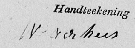 handtekening Wilhelmus Verhees