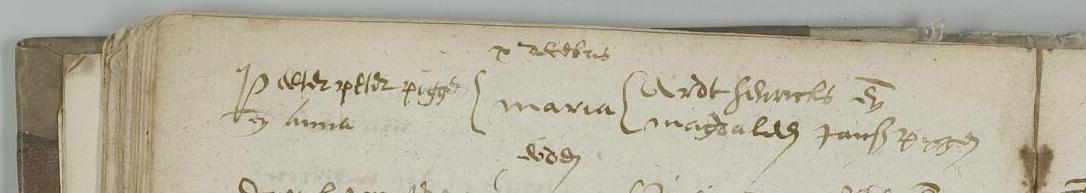 Doop Maria Peter Peter Piggen (Nauwen) Oisterwijk 10 dec 1601