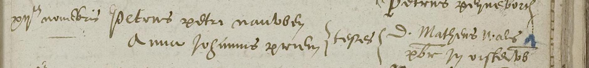 Huwelijk Petrus Petrus Nauwen en Anna Johannes Priem 12 nov 1598