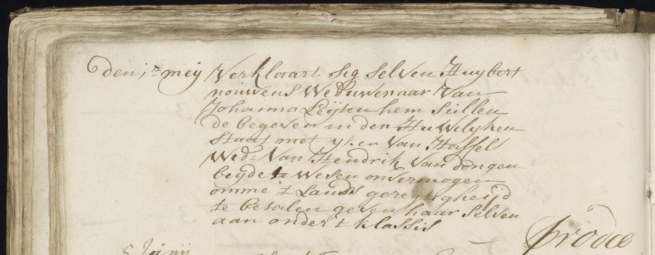 Huwelijk met IJken van Hasselt - 1 mei 1750